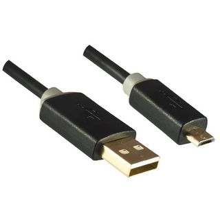 Dinic USB 2.0-Kabel schwarz A-Stecker/Micro-USB 0,5m Product Image