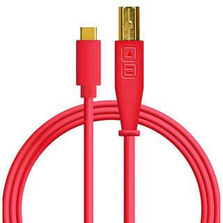 DJ TECHTOOLS USB-C/USB-B Chroma Cable (Red) Product Image