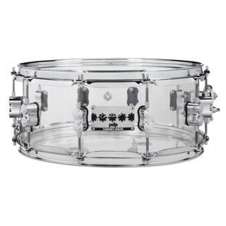 "Drum Workshop PDP Acryl Snare 14""x6"" Chad Smith Signature Product Image"