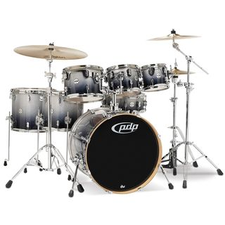 Drum Workshop PDP Concept Maple CM7, Silver to Black Fade Product Image