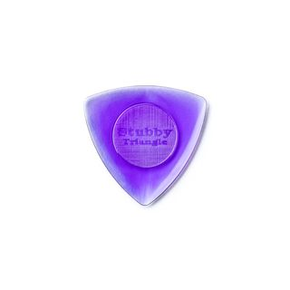 Dunlop Plektrum Stubby Triangle 2,00 6er Set hell purple Produktbild