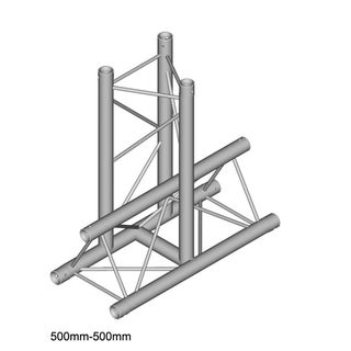 DURATRUSS DT 23 T35-VD, 3-Point Truss T-Piece, 3-Way, vertical, down Product Image