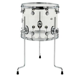 "DW Design Acryl FloorTom 14""x12"", Clear Product Image"