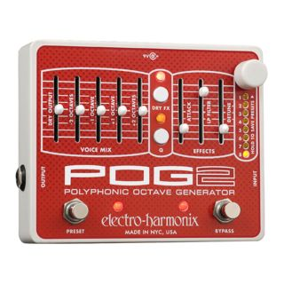 Electro Harmonix POG2 Polyphonic Octave Generat or Guitar Effects Pedal   Product Image