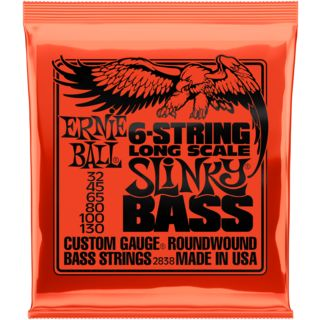 Ernie Ball Bass Strings 32-130 6-String Nickel Wound Product Image