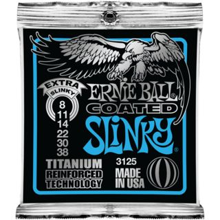 Ernie Ball E-Guitar Strings 08-38 Coated Titanium Extra Slinky EB3125 Product Image