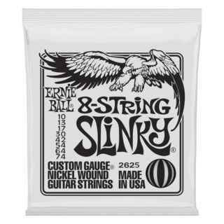 Ernie Ball EB2625 8-String Slinky Guitar 8-Strings 10-74 Product Image