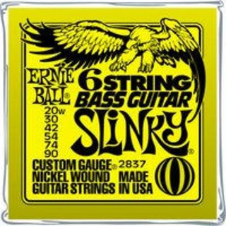 Ernie Ball EB2837 20-90 6-string Baritone Slinky Nickel Plated Product Image