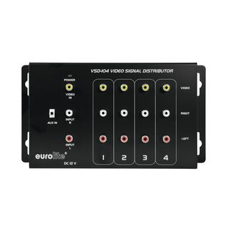 Eurolite VSD-104 Video Distributor  1in4 4-way Distribution Amplifier Изображение товара