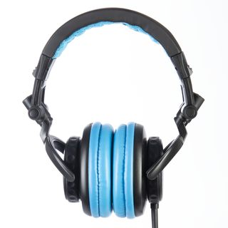 Fame audio hD-1000 Blue DJ Headphones Black And Blue, 3m Cable Produktbillede