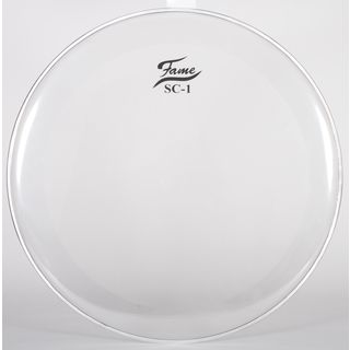 "Fame Bass Drum Head SC1, 24"", Sound Control, clear Product Image"