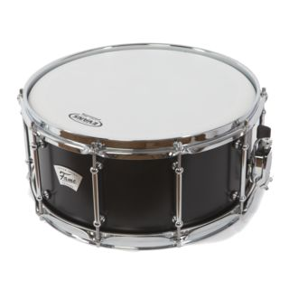 "Fame Custom Snare Drum 14""x6,5"" Satin Black Product Image"