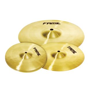 "Fame Cymbal Set ""StarterPlus"", 20""Ride, 16""Crash,14""HiHat+Bag Produktbillede"