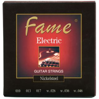 Fame Electric Guitar Strings Nickel Plated Round Wound 10-46 Produktbild