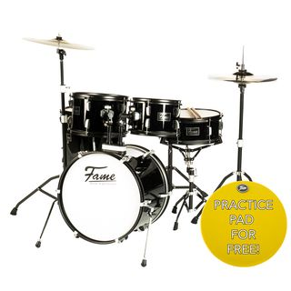 Fame FS18B First Step Junior Drum Set (Piano Black) Product Image