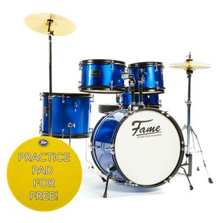 "Fame Kiddyset 5 PC Junior Drumset ""Elias"" Blue Produktbild"
