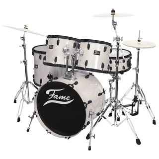 Fame Maple Standard Set 5221, #White Laquer, Black HW Produktbillede