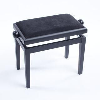 Fame Piano Bench Black Satin  Product Image