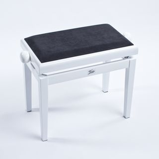 Fame Piano Bench (Polished White) Product Image