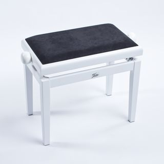 Fame Piano Bench white satin  Product Image