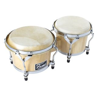 "Fame Professional Bongos 7"" + 8.5"", Natural Product Image"