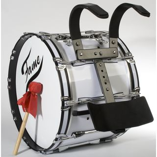 "Fame Professional Marching BassDrum 22""x14"", Birch, + Carrier Product Image"