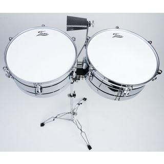 "Fame Timbales 14"" & 15"" TIM-4, incl. Cowbell & Stand Product Image"