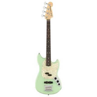 Fender American Performer Mustang Bass RW Satin Surf Green Product Image