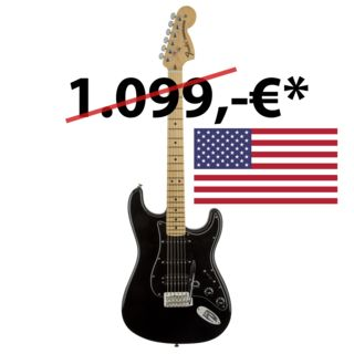 Fender American Special Stratocaster HSS MN BLK Black Product Image