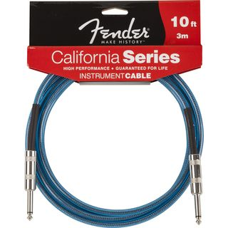Fender California Cable 3m LPB Lake Placid Blue Produktbillede