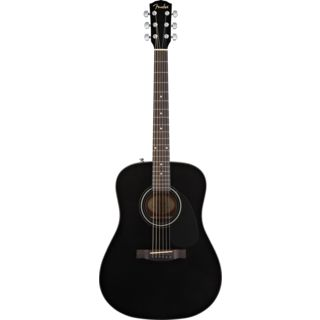 Fender CD-60 Acoustic Guitar, Black    Produktbillede