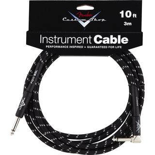 Fender Custom Shop Cable 3m Black Tweed (STRAIGHT-RIGHT ANGLE) Product Image