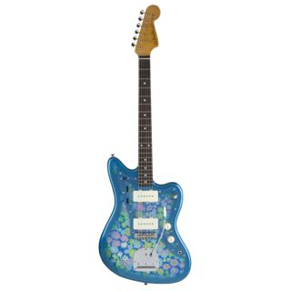 Fender Made in Japan Traditional '60s Jazzmaster RW Blue Flower Product Image