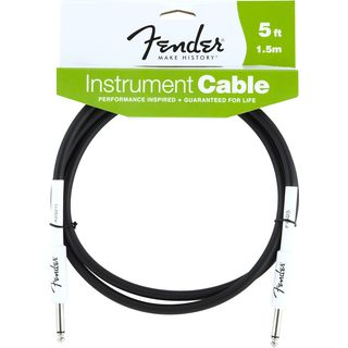Fender Performance Cable 1.5m Black (STRAIGHT-STRAIGHT) Produktbillede