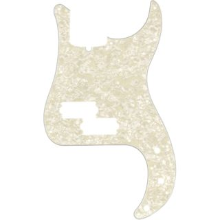Fender Pickguard Standard P Bass White Moto 4-Ply Product Image