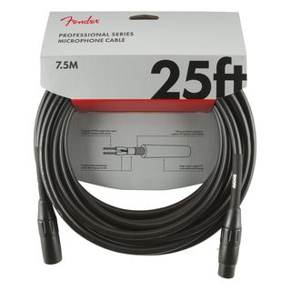 Fender Professional Mircrophone Cable BLK Product Image