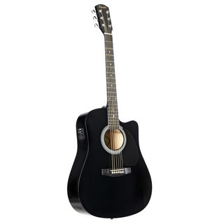 Fender Squier SA-105CE Dreadnought Black Product Image
