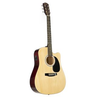 Fender Squier SA-105CE Dreadnought Natural Product Image