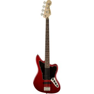 Fender Squier Vintage Modified Jaguar Bass Special IL Crimson Red Transparent Product Image