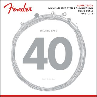 Fender Strings Super 7250 5L 40-115 Nickel Plated Steel, Roundwound, Longscale Product Image