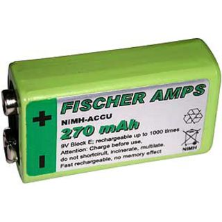 Fischer Amps 9V Ni MH Accu 270mAh  Product Image