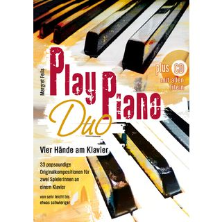 Gerig-Verlag Play Piano Duo Margret Feils, Buch/CD Product Image