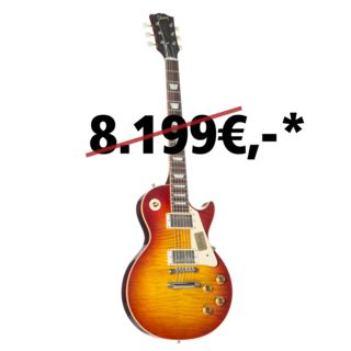 Gibson '59 Les Paul Standard Figured VOS Washed Cherry #97764 Изображение товара