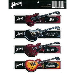 Gibson Guitar Sticker Pack Product Image