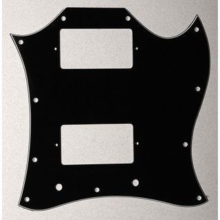 Göldo Pickguard Double Cut, 3-ply black Product Image