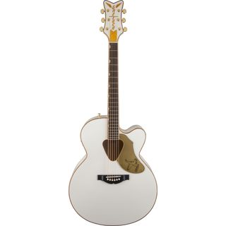 Gretsch G5022CWFE Jumbo Falcon CE Cutaway Electric White Product Image