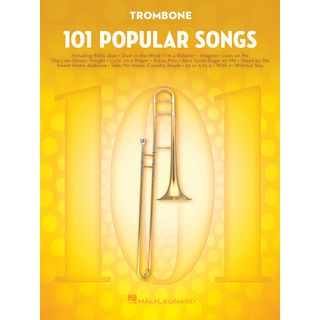 Hal Leonard 101 Popular Songs For Trombone Εικόνα προιόντος