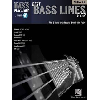 Hal Leonard Bass Play-Along - Best Bass Lines Ever Vol. 46, Bass TAB Product Image