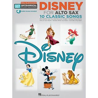 Hal Leonard Easy Play-Along: Disney Alto-Saxophone Product Image