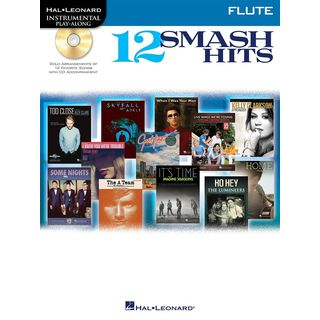 Hal Leonard Play-Along - 12 Smash Hits Flöte, Buch und CD Product Image